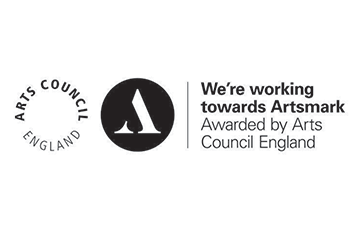 Arts Council England working towards Artsmark Logo